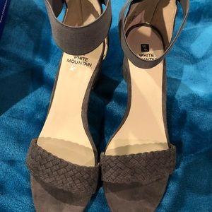 Grayish/ brown heels by White Mountain
